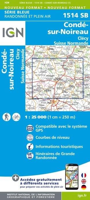 SB-1514SB Condé-sur-Noireau, la Suisse Normande | wandelkaart 1:25.000 9782758538684  IGN IGN 25 Normandië  Wandelkaarten Normandië
