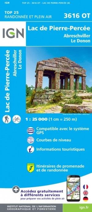 3616OT   Col du Donon | wandelkaart 1:25.000 9782758550327  IGN TOP 25  Wandelkaarten Vogezen