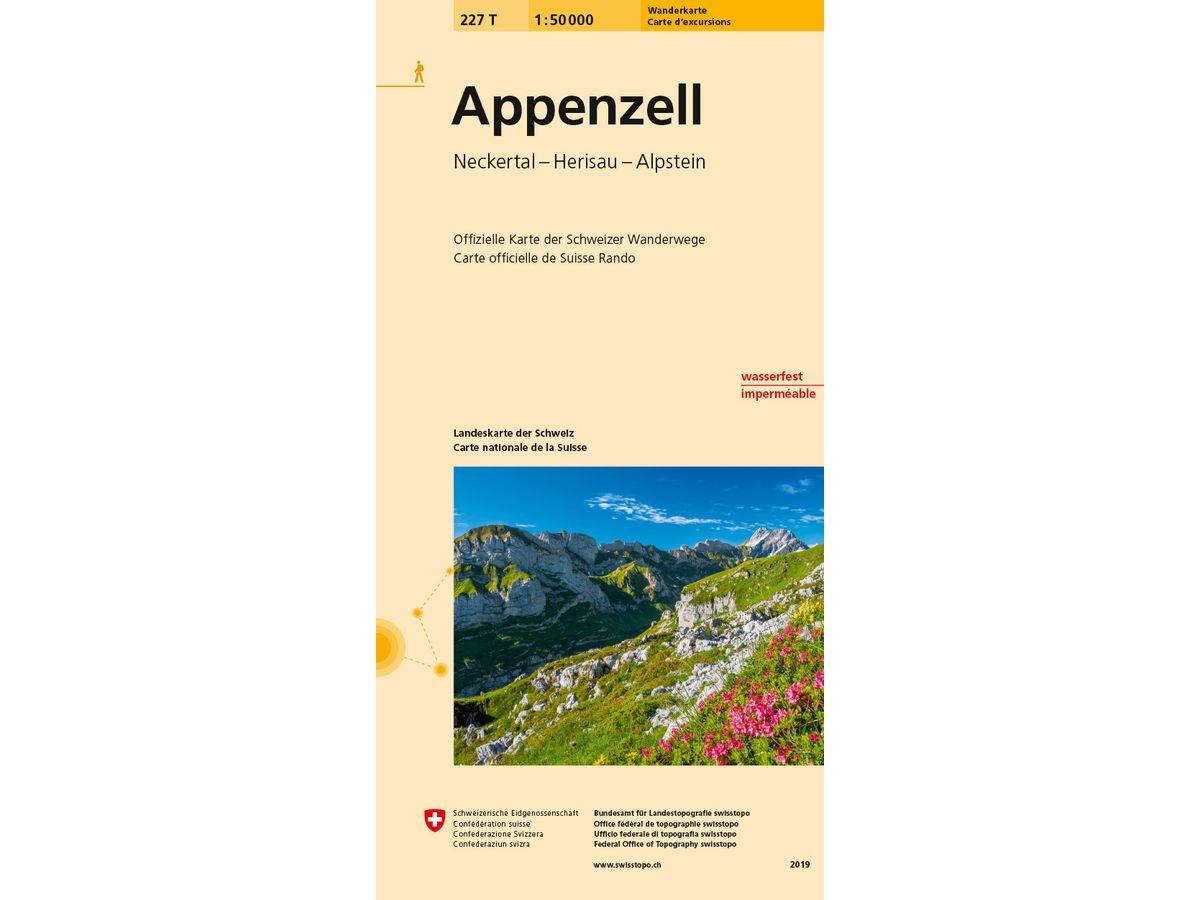 227T  Appenzell [2019] 9783302302270  Bundesamt / Swisstopo SAW 1:50.000  Wandelkaarten Noordoost- en Centraal Zwitserland