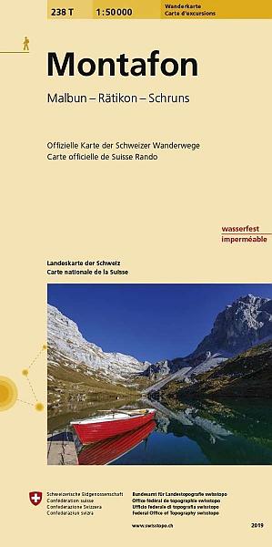 238T  Montafon [2019] 9783302302386  Bundesamt / Swisstopo SAW 1:50.000  Wandelkaarten Noordoost- en Centraal Zwitserland, Tirol & Vorarlberg