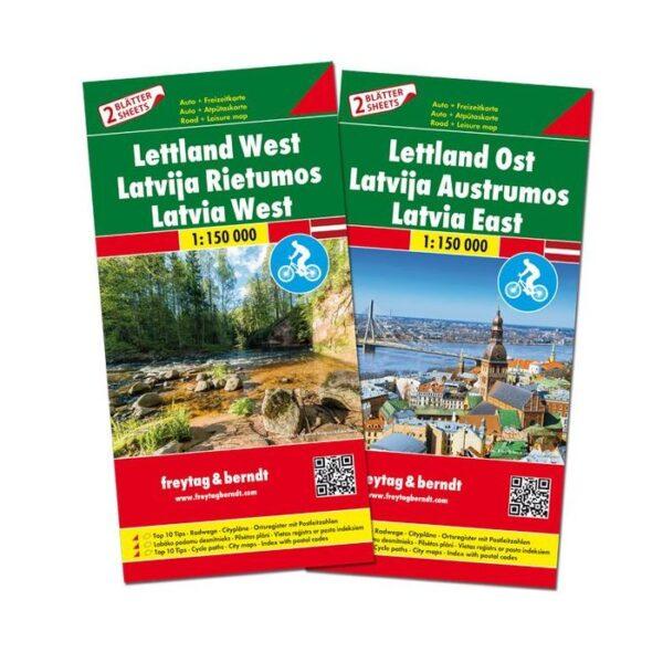 Letland  | wegenkaart,  autokaart 1:150.000 9783707917734  Freytag & Berndt   Landkaarten en wegenkaarten Letland