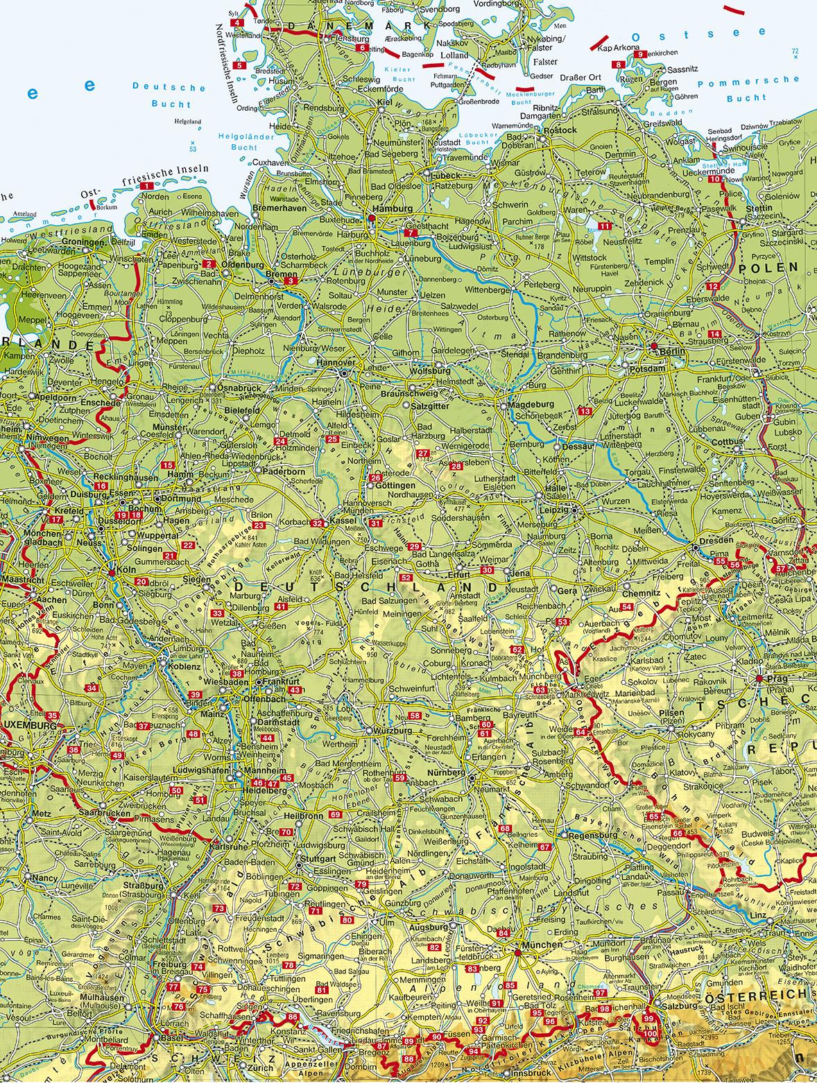Rother wandelgids Deutschland | Rother Jubiläums-Wanderführer 9783763332069  Bergverlag Rother RWG  Wandelgidsen Duitsland