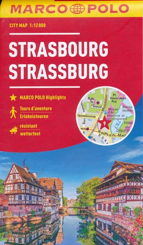 Marco Polo Stadsplattegrond Straatsburg 9783829741958  Marco Polo   Stadsplattegronden Vogezen