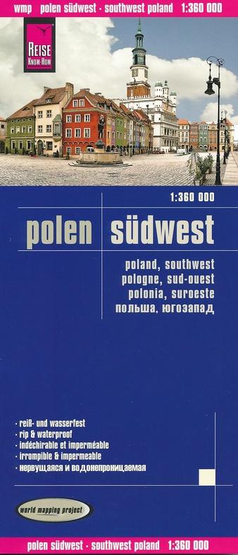 landkaart, wegenkaart Zuidwest-Polen 1:360.000 9783831773619  Reise Know-How WMP Polyart  Landkaarten en wegenkaarten Polen