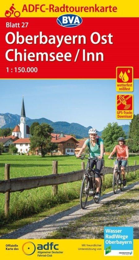 ADFC-27 Oberbayern Ost, Chiemsee, Inn | fietskaart 1:150.000 9783870738235  ADFC / BVA Radtourenkarten 1:150.000  Fietskaarten Beierse Alpen