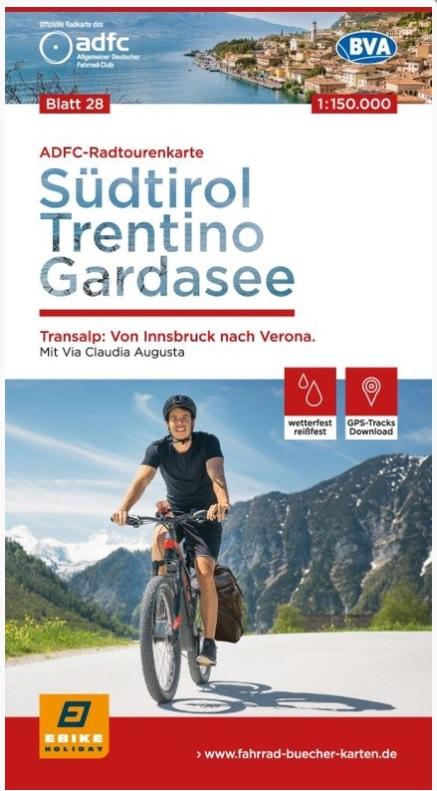 ADFC-28 Zuid-Tirol, Trentino, Gardameer | fietskaart 1:150.000 9783870739317  ADFC / BVA Radtourenkarten 1:150.000  Fietskaarten Gardameer