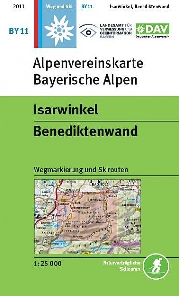 BY-11 Isarwinkel, Benediktenwand 1:25.000 Alpenvereinskarte 9783937530833  Deutscher AlpenVerein Alpenvereinskarten  Wandelkaarten Beierse Alpen