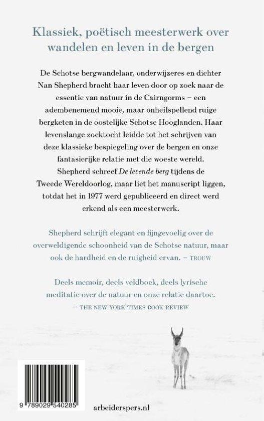 De Levende Berg | Nan Shepherd 9789029540285 Nan Shepherd Arbeiderspers   Klimmen-bergsport, Reisverhalen Schotland