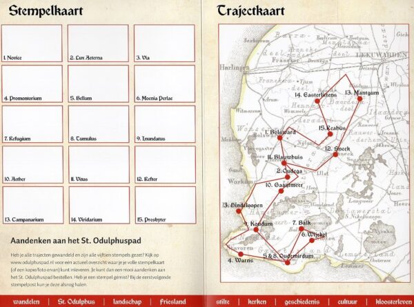 Sint Odulphuspad | wandelgids ODULPHUS  Odulphuspad   Wandelgidsen Friesland