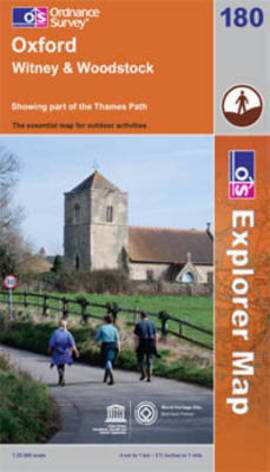 EXP-180 Oxford, Woodstock, Witney | wandelkaart 1:25.000 9780319241134  Ordnance Survey Explorer Maps 1:25t.  Wandelkaarten Midlands, Cotswolds, Oxford