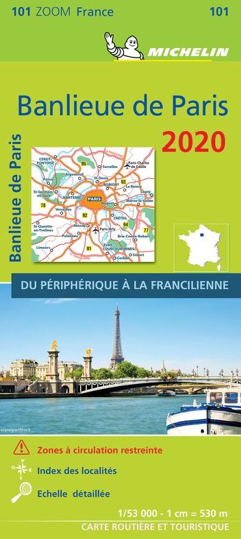 101 Paris Banlieue 1:50.000 2020 9782067244375  Michelin Zoom  Landkaarten en wegenkaarten Parijs, Île-de-France