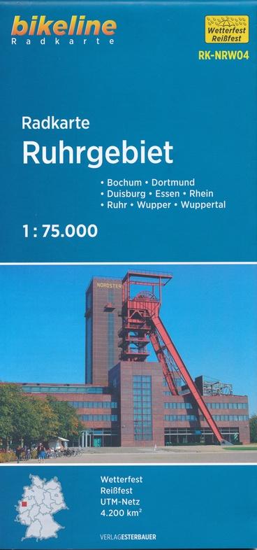 RK-NRW04  Ruhrgebiet 1:75.000 9783850002868  Esterbauer Bikeline Radkarten  Fietskaarten Ruhrgebied