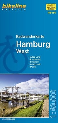 RW-HH1  Hamburg West  1:60.000 9783850004008  Esterbauer Bikeline Radkarten  Fietskaarten Hamburg