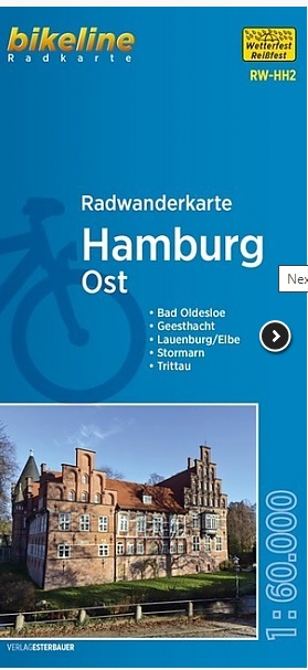 RW-HH2  Hamburg Ost  1:60.000 9783850008228  Esterbauer Bikeline Radkarten  Fietskaarten Hamburg