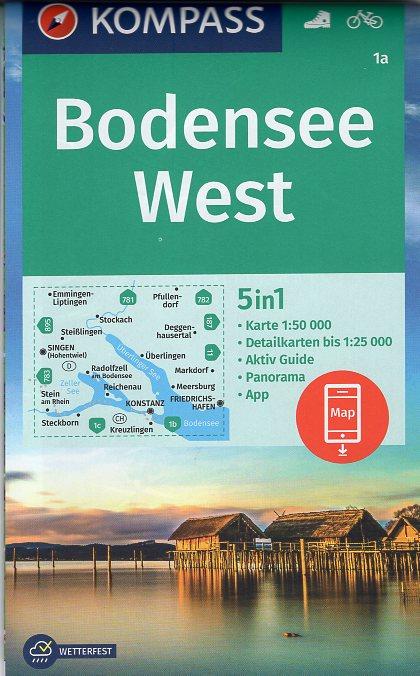 KP-1a Bodensee West | Kompass wandelkaart 1:50.000 9783990447352  Kompass Wandelkaarten Kompass Duitsland  Wandelkaarten Bodenmeer, Schwäbische Alb