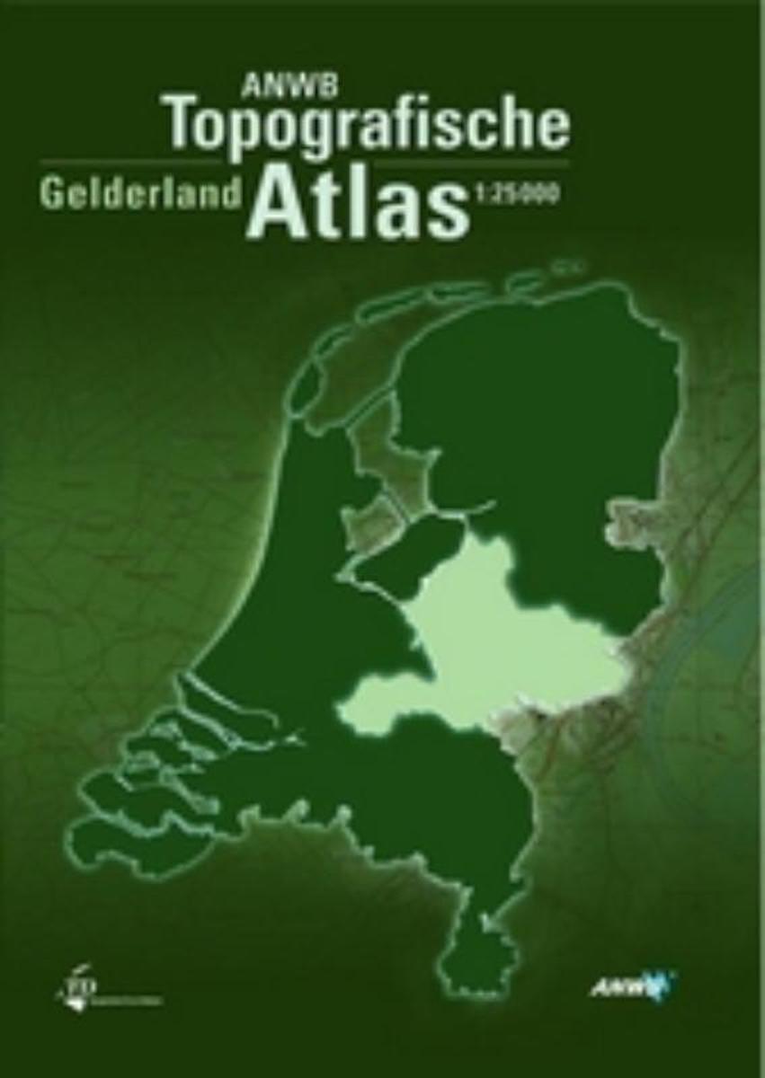 Topogarafische atlas Gelderland 1:25.000 9789018018412  ANWB / Top. Dienst Top. Atlassen 1:25d.  Wandelkaarten Oost Nederland