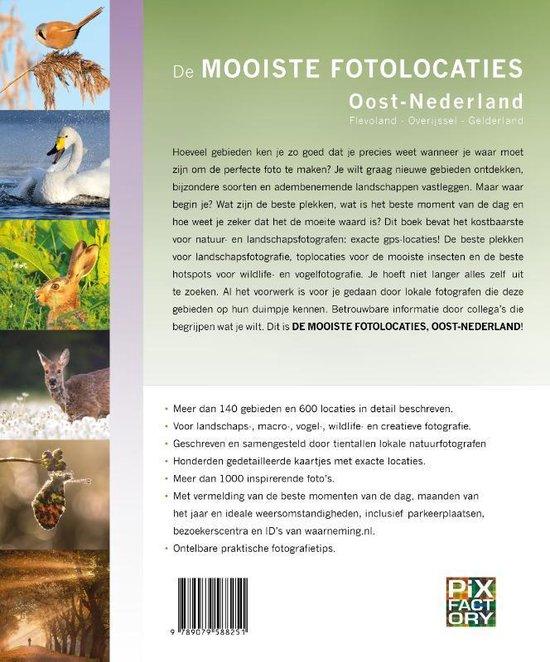 De mooiste fotolocaties: Oost-Nederland 9789079588251  Birdpix   Fotoboeken Oost Nederland