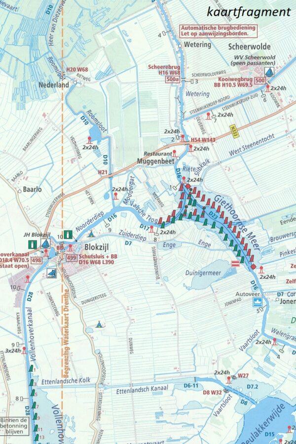 WTK-05 Kop van Overijssel / Gelderse IJssel - noord   Waterkaart 9789018046002  ANWB ANWB Waterkaarten  Watersportboeken Oost Nederland