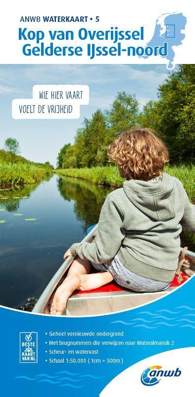 WTK-05 Kop van Overijssel / Gelderse IJssel - noord | Waterkaart 9789018046002  ANWB ANWB Waterkaarten  Watersportboeken Oost Nederland