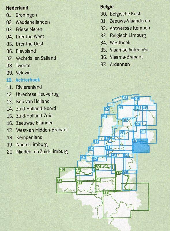 FFK-10  Achterhoek | VVV fietskaart 1:50.000 9789028701052  Falk Fietskaarten met Knooppunten  Fietskaarten Gelderse IJssel en Achterhoek