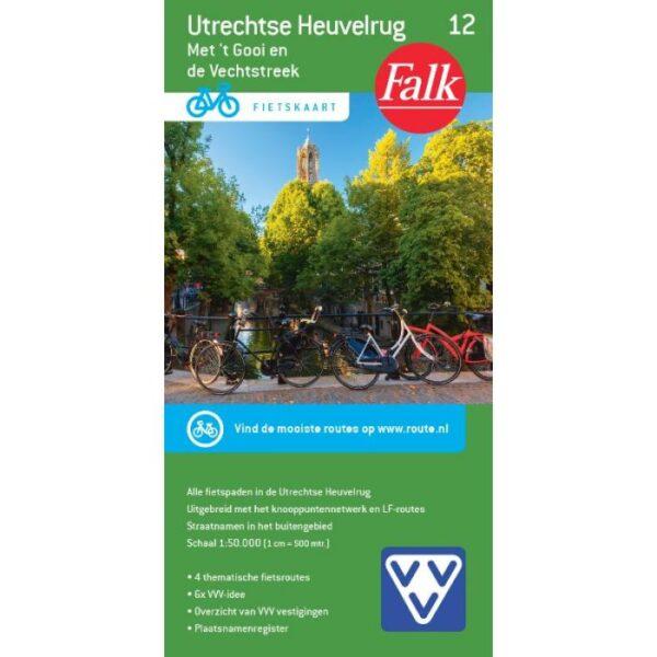 FFK-12  Utrechtse Heuvelrug | VVV fietskaart 1:50.000 9789028701076  Falk Fietskaarten met Knooppunten  Fietskaarten Utrecht
