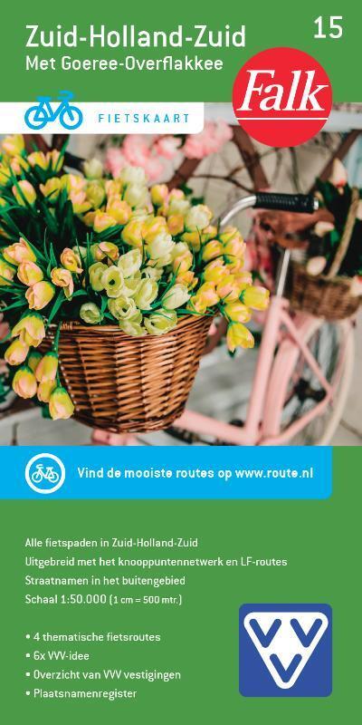 FFK-15  Zuid-Holland / Zuid | VVV fietskaart 1:50.000 9789028701090  Falk Fietskaarten met Knooppunten  Fietskaarten Den Haag, Rotterdam en Zuid-Holland