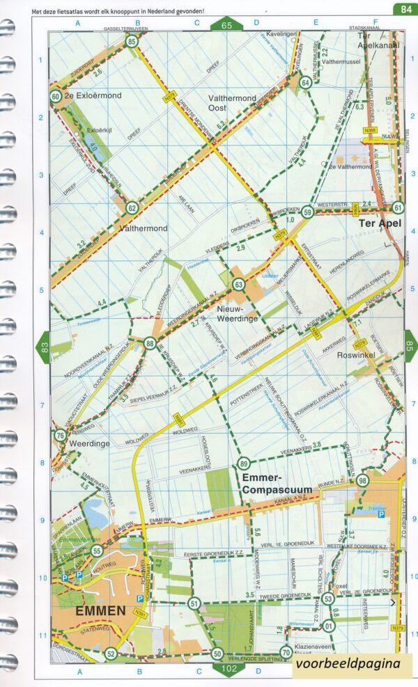 Fietsatlas Nederland,  1/75.000 ed. 2020 * 9789028703513  Falk meerdaagse fietsroutes (NL)  Fietsgidsen, Fietskaarten Nederland