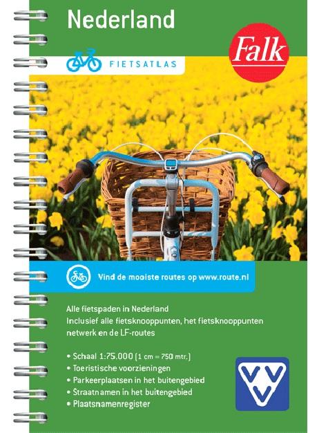 Fietsatlas Nederland,  1/75.000 9789028703513  Falk meerdaagse fietsroutes (NL)  Fietsgidsen, Fietskaarten, Meerdaagse fietsvakanties Nederland