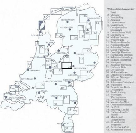 SBB-24  Midden-Veluwe | wandelkaart 1:25.000 9789028709966  Staatsbosbeheer SBB kaart 1:25.000  Wandelkaarten Arnhem en de Veluwe