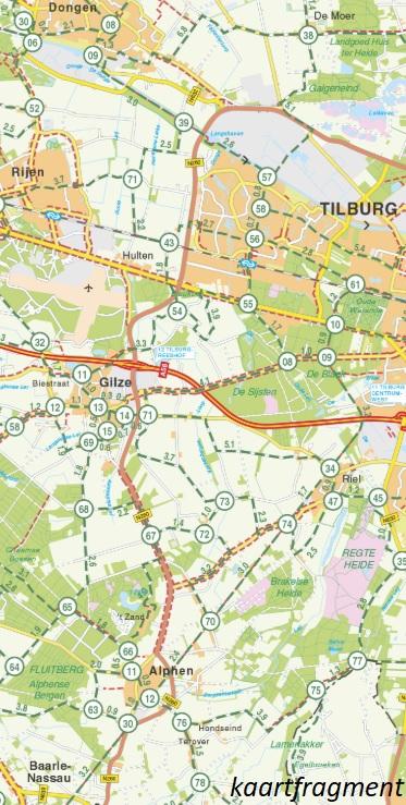 FKP-28 Noord-Brabant fietskaart 1:90.000 9789028730403  Falk Fietsknooppuntenkaart  Fietskaarten Noord-Brabant
