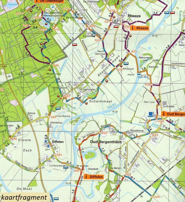 Wandelkaart Vechtdal, Hardenberg 1:25.000 9789082046557  Marketing Oost Wandelnetwerk Overijssel  Wandelkaarten Kop van Overijssel, Vecht & Salland