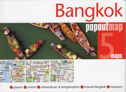 Bangkok pop out map | stadsplattegrondje in zakformaat 9781910218075  Grantham Book Services PopOut Maps  Stadsplattegronden Thailand