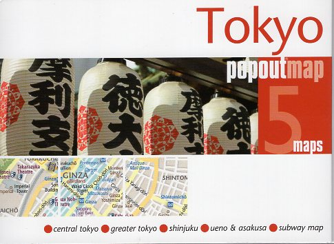 Tokyo pop out map | stadsplattegrondje in zakformaat 9781910218129  Grantham Book Services PopOut Maps  Stadsplattegronden Japan