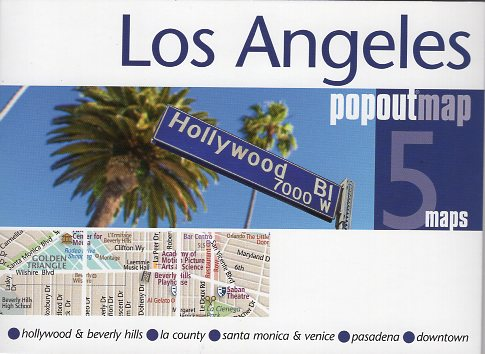 Los Angeles pop out map | stadsplattegrondje in zakformaat 9781910218273  Grantham Book Services PopOut Maps  Stadsplattegronden California, Nevada