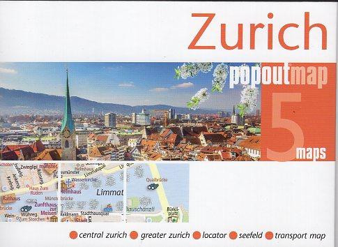 Zurich (Zürich) pop out map | stadsplattegrondje in zakformaat 9781910218556  Grantham Book Services PopOut Maps  Stadsplattegronden Basel, Zürich, Noord-Zwitserland