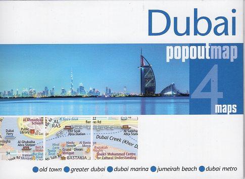Dubai pop out map | stadsplattegrondje in zakformaat 9781910218648  Grantham Book Services PopOut Maps  Stadsplattegronden Oman, Abu Dhabi, Dubai, Saudi-Arabië, Jemen