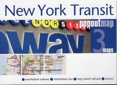 New York Transit pop out map | stadsplattegrondje in zakformaat 9781910218662  Grantham Book Services PopOut Maps  Stadsplattegronden New York, Pennsylvania, Washington DC