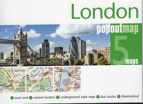 London pop out map | stadsplattegrondje in zakformaat 9781910218723  Grantham Book Services PopOut Maps  Stadsplattegronden Londen