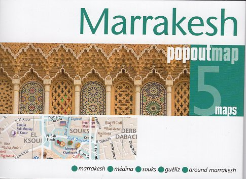 Marrakesh pop out map | stadsplattegrondje in zakformaat 9781910218822  Grantham Book Services PopOut Maps  Stadsplattegronden Marokko