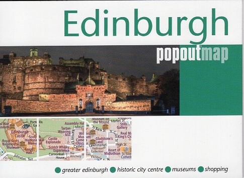 Edinburgh pop out map | stadsplattegrondje in zakformaat 9781910218853  Grantham Book Services PopOut Maps  Stadsplattegronden Edinburgh