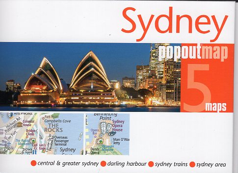 Sydney pop out map | stadsplattegrondje in zakformaat 9781910218860  Grantham Book Services PopOut Maps  Stadsplattegronden Australië
