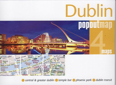Dublin pop out map | stadsplattegrondje in zakformaat 9781910218907  Grantham Book Services PopOut Maps  Stadsplattegronden Dublin