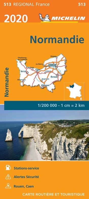 513  Normandie | Michelin  wegenkaart, autokaart 1:200.000 9782067243767  Michelin Regionale kaarten  Landkaarten en wegenkaarten Normandië