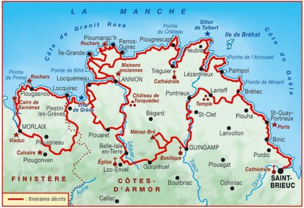 TG-346  Côte de Granit Rose | wandelgids GR-34 9782751410673  FFRP topoguides à grande randonnée  Meerdaagse wandelroutes, Wandelgidsen Bretagne