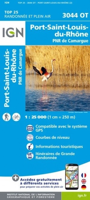 3044OT Port-St-Louis-du-Rhône 9782758539681  IGN TOP 25  Wandelkaarten Provence, Marseille, Camargue