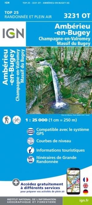 3231OT  Bugey, Virieu-le-Grand | wandelkaart 1:25.000 9782758541790  IGN TOP 25  Wandelkaarten Lyon en omgeving