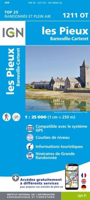 1211OT Les Pieux | wandelkaart 1:25.000 9782758544579  IGN IGN 25 Normandië  Wandelkaarten Normandië