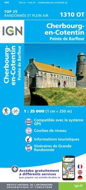 1310OT St-Pierre-Eglise, Barfleur | wandelkaart 1:25.000 9782758545194  IGN IGN 25 Normandië  Wandelkaarten Normandië