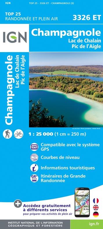 3326ET Champagnole | wandelkaart 1:25.000 9782758546641  IGN TOP 25  Wandelkaarten Franse Jura
