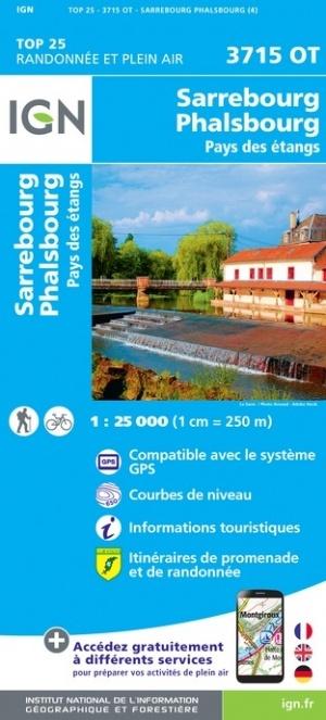 3715OT  Saverne - Sarrebourg - Rocher de Dabo | wandelkaart 1:25.000 9782758550464  IGN TOP 25  Wandelkaarten Vogezen